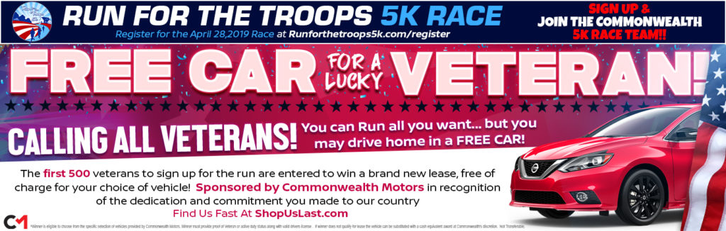 First 500 Veterans to Register Eligible to Win a Car from